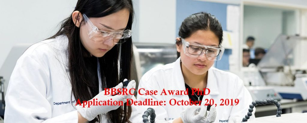 BBSRC Case Award PhD in Epidemiology/Health Research, 2020