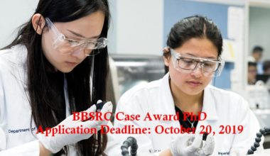 BBSRC Case Award PhD in Epidemiology/Health Research, 2020