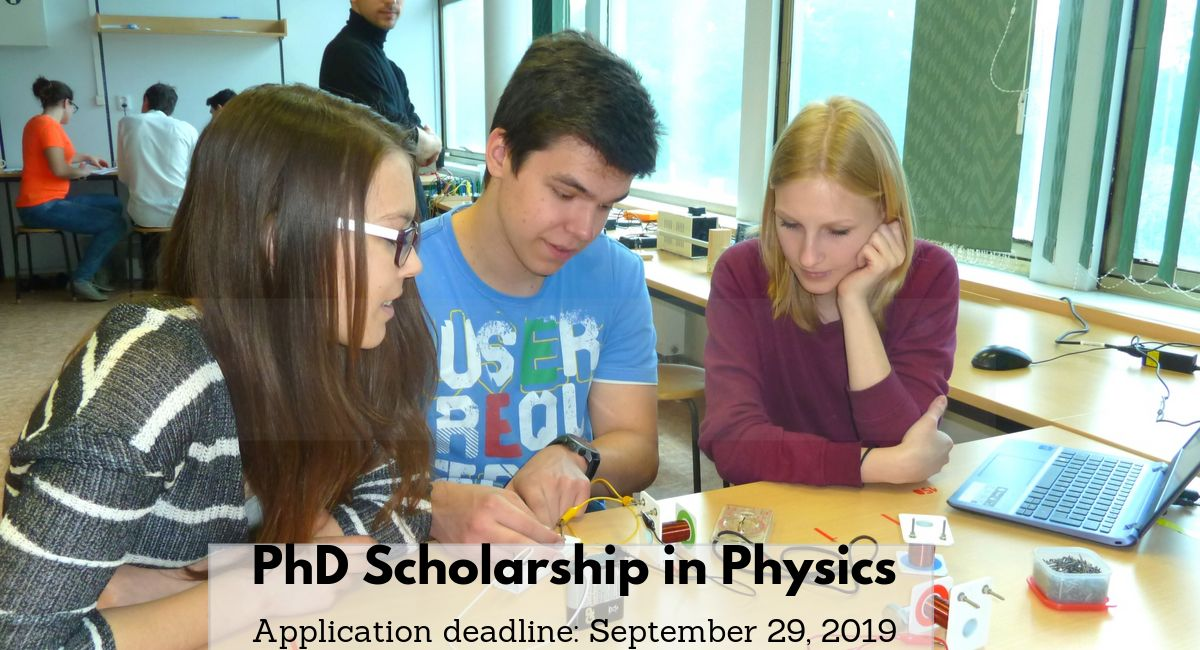 Fully Funded Joint PhD Scholarship in Physics