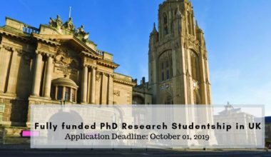 Fully funded PhD Research Studentship in Ultrasonic Inspection for Complex Geometry