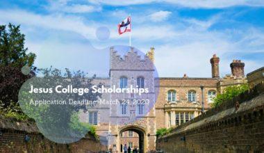 Jesus College Postgraduate Scholarships at University of Cambridge