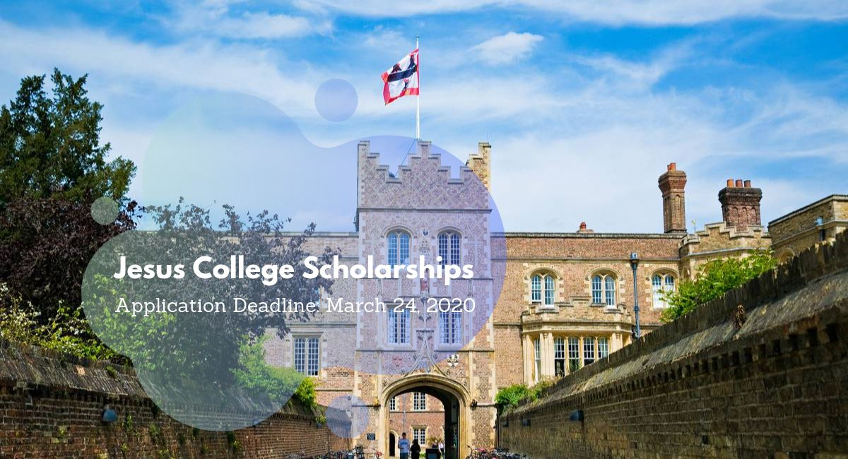 Jesus College Postgraduate Scholarships at University of Cambridge