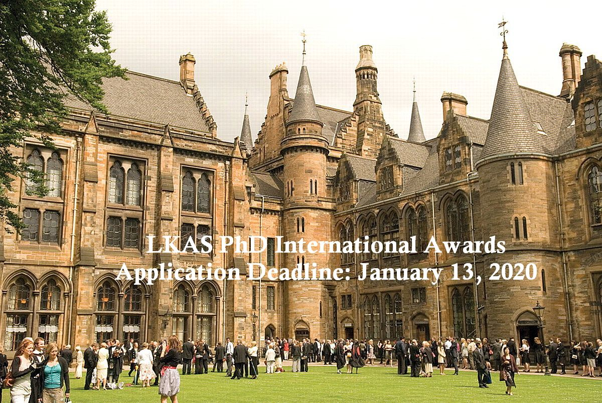 LKAS PhD International Awards at University of Glasgow, 2020