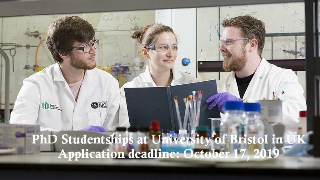 PhD Studentships at University of Bristol in UK