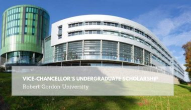 RGU Vice-Chancellor's Undergraduate Scholarship