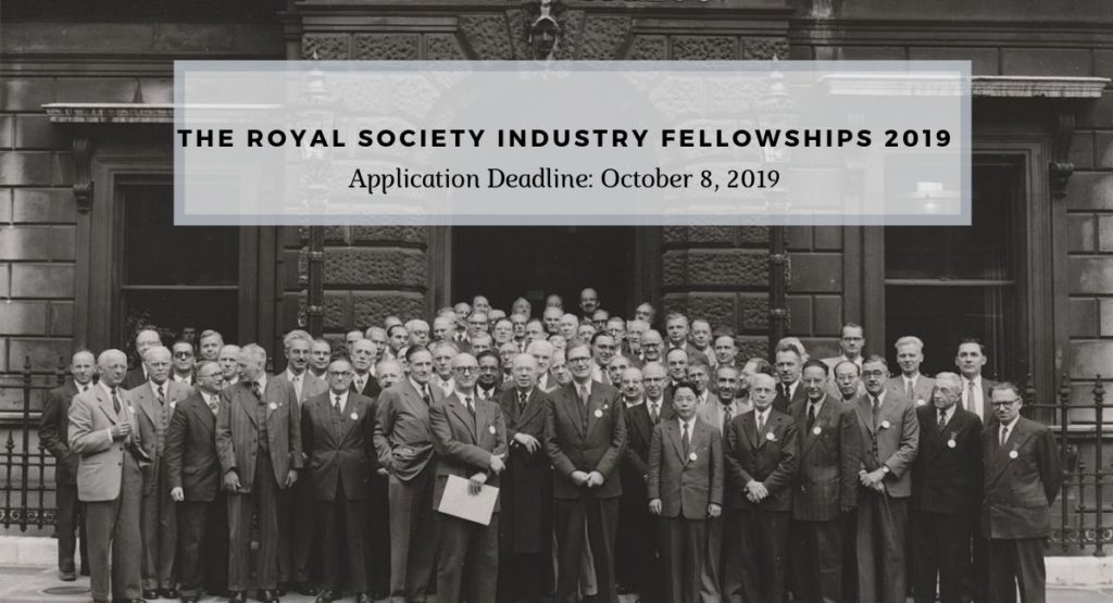 The Royal Society Industry Fellowships 2019