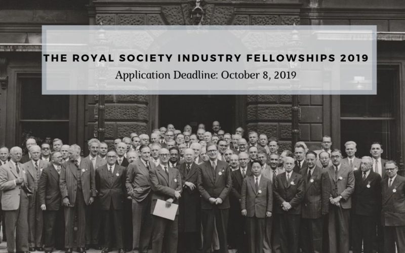 The Royal Society Industry Fellowships 2019