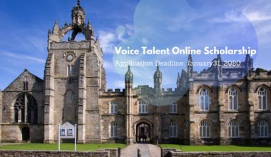 The Voice Talent Online Scholarship at University of Aberdeen