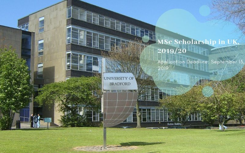 University of Bradford MSc Scholarship in UK