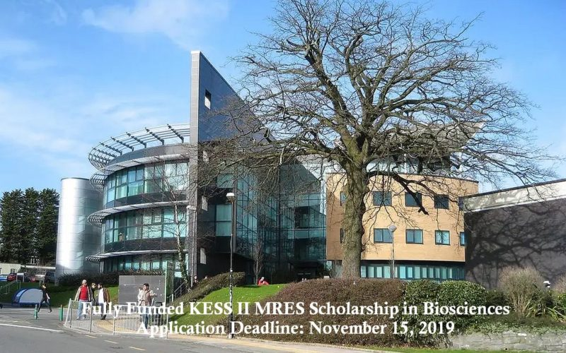 Fully Funded KESS II MRES Scholarship in Biosciences