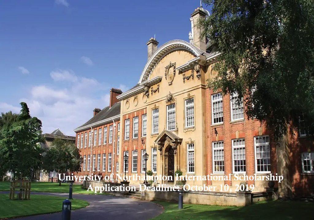 University of Northampton International Scholarship in UK, 2020